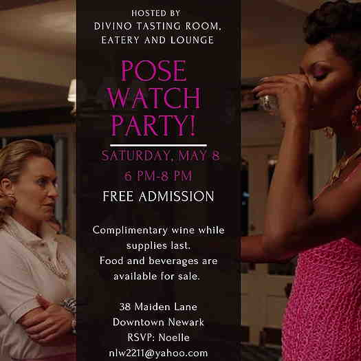 Pose Watch Party flyer