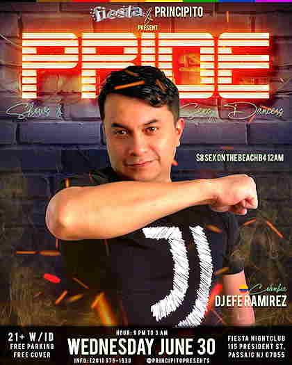 Pride Day Celebration event flyer with DJ Jefe Ramirez on the cover