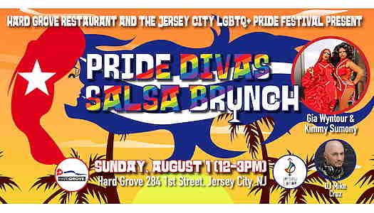 Pride Divas Salsa Brunch event flyer