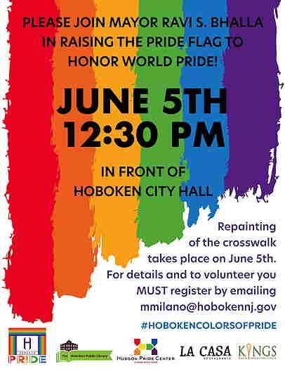 Pride Flag Raising 2021 event flyer