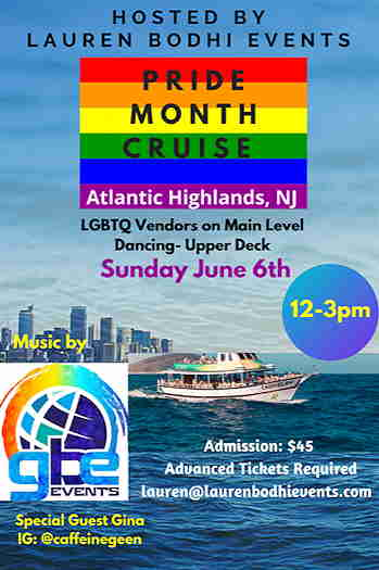 Pride Month Cruise 2021 event flyer