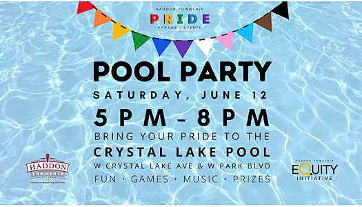 Pride Pool Party event flyer