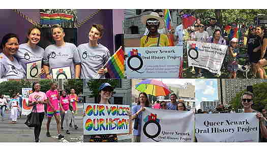 Pictures of people during the Queer Newark Pride Walking Tours
