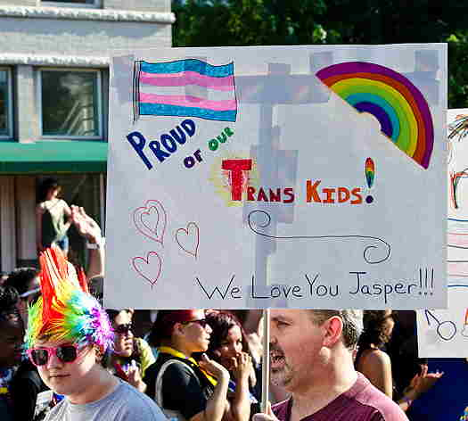 Proud of our trans kid DC Capital Pride parade 2013