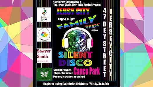 Silent Disco 2021 textual flyer