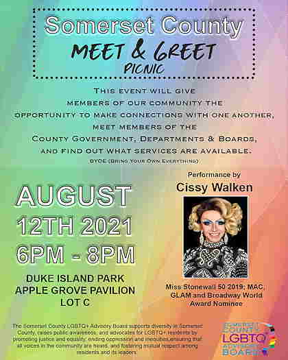 Somerset County Meet & Greet event flyer with Cissy Walken's photo