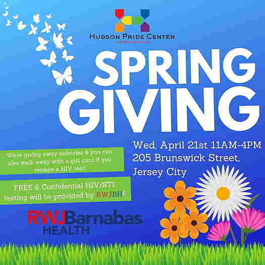 Spring Giving in Jersey City flyer
