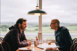 Stanley Tucci at a diner