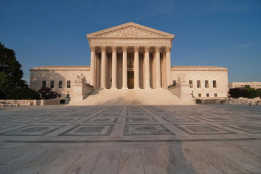Photo of the outside steps of the Supreme Court