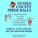 Sussex County Pride Rally 2021 at Newton Green in Newton
