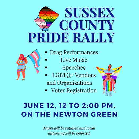 Sussex County Pride Rally 2021 flyer