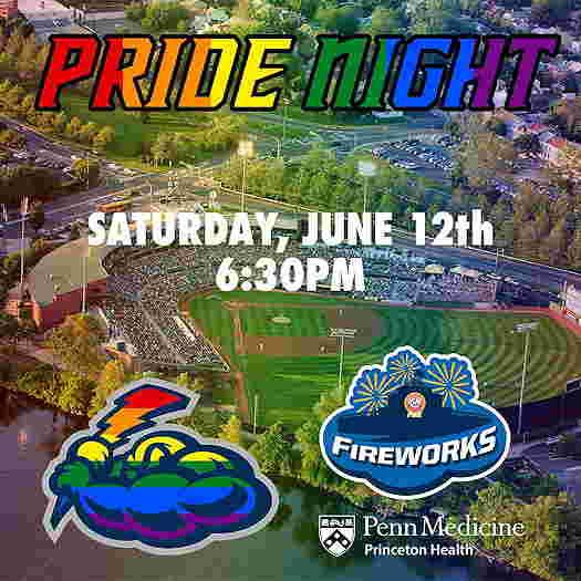 Trenton Thunder: Pride Night 2021 event flyer
