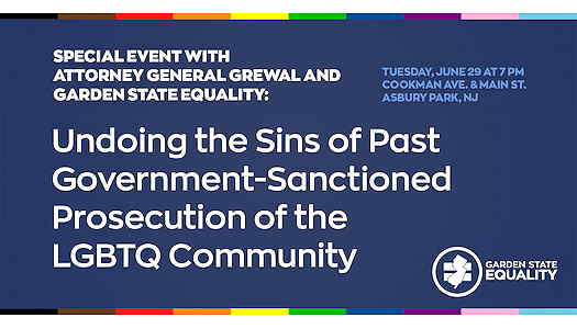 Undoing the Sins of Past Government-Sanctioned Prosecution of the LGBTQ Community textual event flyer