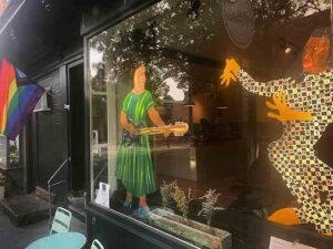 Outside window of Union Coffee