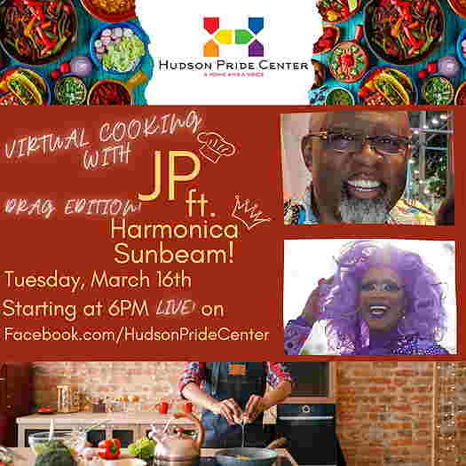 Virtual Cooking With JP: Drag Edition With Harmonica Sunbeam